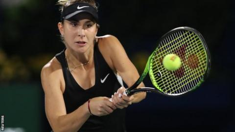 Belinda Bencic wins against Simona Halep - view