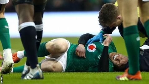 Ireland's CJ Stander faces up to four weeks out with facial injury