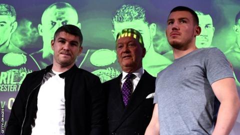 Liam Smith, Frank Warren and Liam Williams