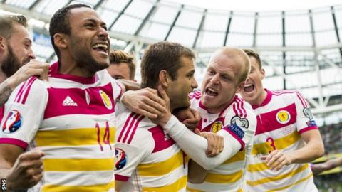 Scotland drew 1-1 with the Republic of Ireland to keep alive their hopes of qualifying for Euro 2016