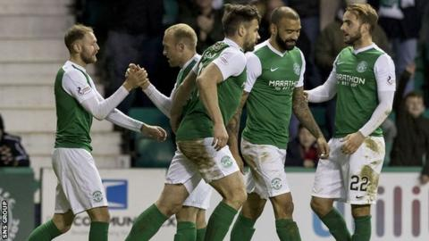 Martin Boyle (left) wrapped up a big win for Hibs at Easter Road