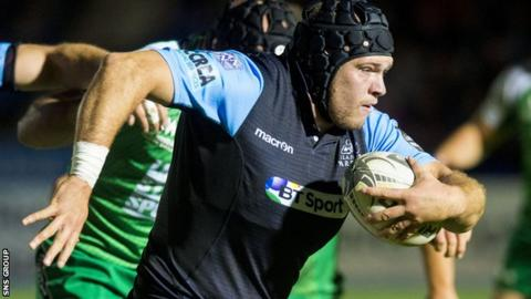 Gordon Reid was Glasgow's solitary try-scorer as they lost to Connacht
