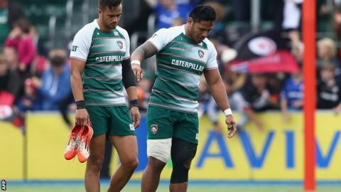 Injured Leicester centre Manu Tuilagi