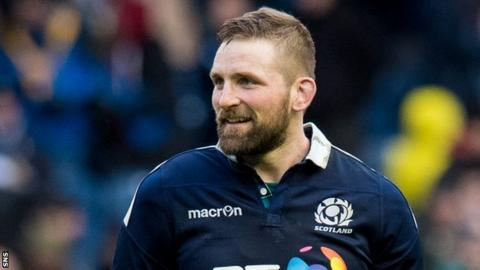 John Barclay smiles after Scotland's win over Wales