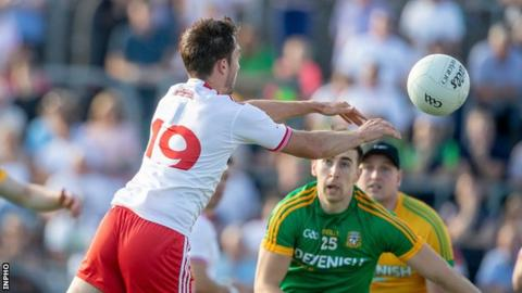 Tyrone debutant Harry Loughran scores a goal in extra-time