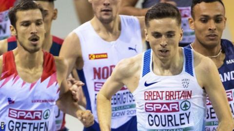Great Britain's Neil Gourley competes in the Men's 1500M.