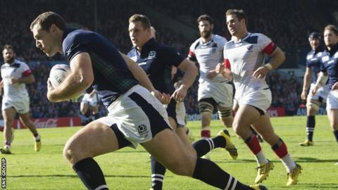 Scotland winger Tim Visser