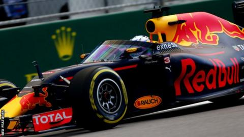 Red Bull's Daniel Ricciardo tests the aeroscreen