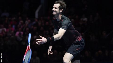 Andy Murray played a charity event in Glasgow on Tuesday