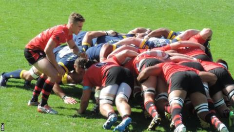 Jersey scrum against Worcester