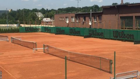 Kvitova's tennis courts in Fulnek