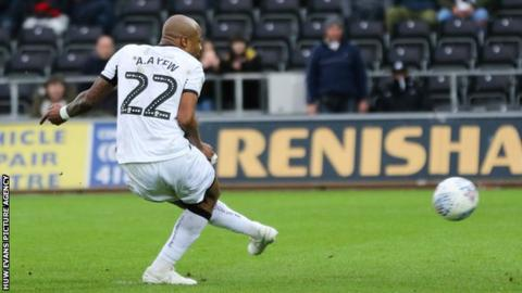 Andre Ayew got Swansea going from the penalty spot against Boro