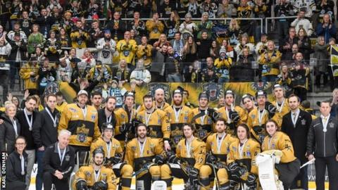 Nottingham Panthers pose with their medals