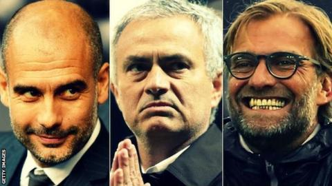 Pep Guardiola, Jose Mourinho and Jurgen Klopp