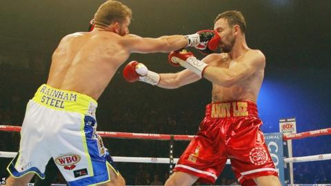 Billy Joe Saunders (left) connects against Andy Lee