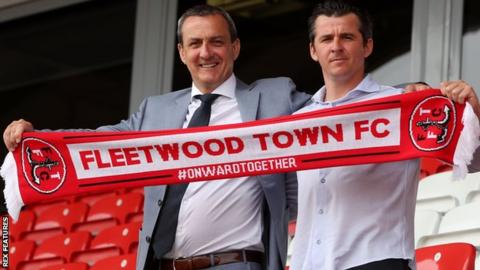 Joey Barton has a long association with Fleetwood chairman Andy Pilley