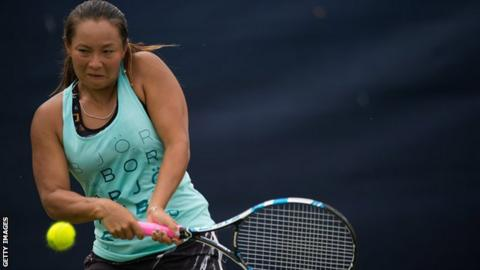 Britain's Tara Moore in action in Nottingham
