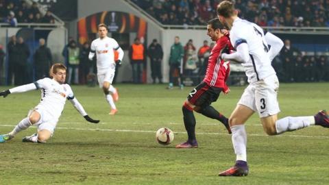 Henrikh Mkhitaryan had previously scored a hat-trick at the Chornomorets Stadium for Borussia Dortmund