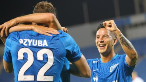 Zenit players celebrate