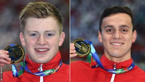 Adam Peaty and James Guy