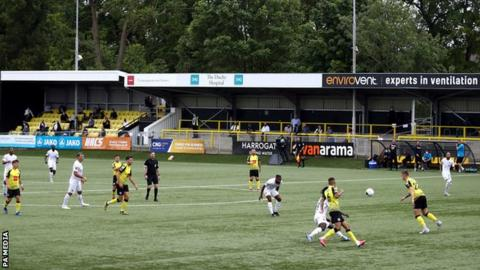 football General view of Harrogate Town's Wetherby Road ground