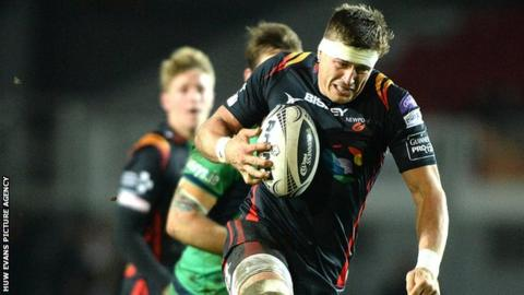 Ed Jackson in action for the Newport Gwent Dragons