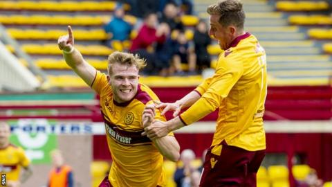 Chris Cadden celebrates