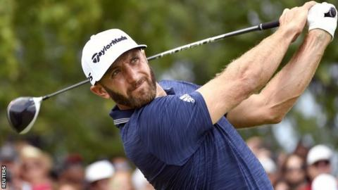 Dustin Johnson in final-round action