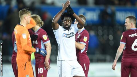 Striker Wilfried Bony has scored 38 goals for Swansea in his two spells but has only found the net once this season