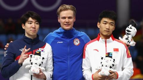 Norway's Havard Lorentzen takes men's 500-meter gold; Daichi Yamanaka finishes fifth