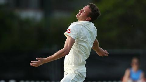 The most recent of Jake Ball's four Test appearances for England came against Australia in Brisbane in November