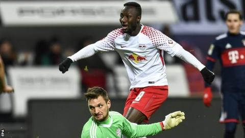 RB Leipzig battle back to claim first-ever win over Bayern Munich