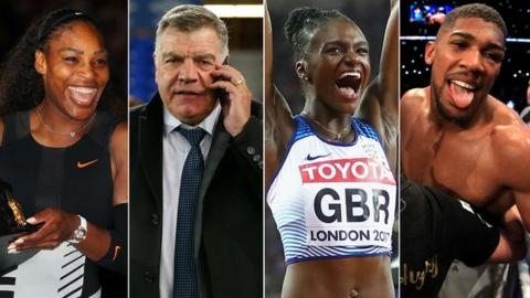 Serena Williams, Sam Allardyce, Dina Asher Smith and Anthony Joshua