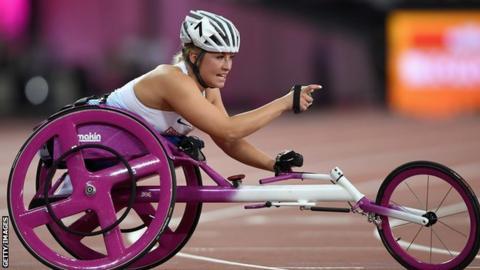 Sammi Kinghorn at the World Para-athletics Championships in London