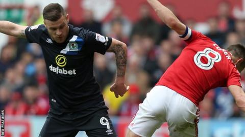 Anthony Stokes (left) in action for Blackburn Rovers