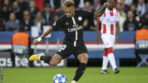 84d649a164f Neymar s hat-trick ensured he became the joint-highest scoring Brazilian in Champions  League history
