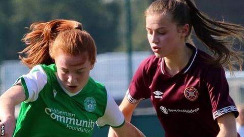 Women's Scottish Cup: Hibernian put seven past rivals Hearts