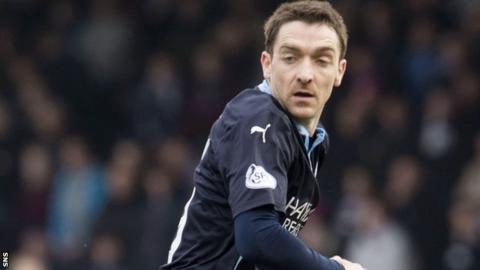 Paul Heffernan scored for Dundee against Dundee United last season.