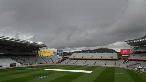 Dark clouds above Eden Park