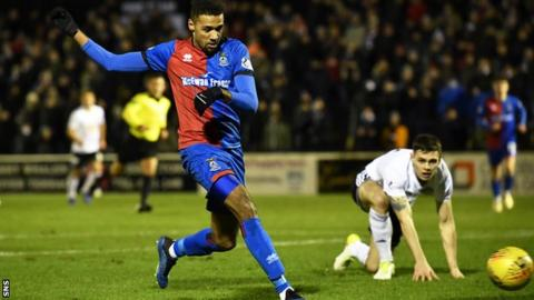 Nathan Austin gave Inverness the lead in the ninth minute