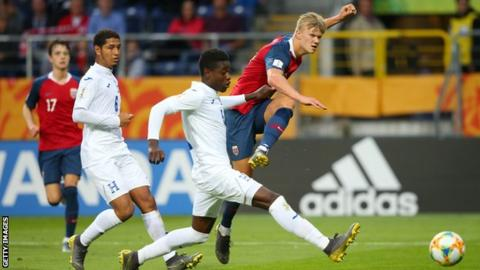 Salzburg starlet Haaland scores nine goals as Norway break records against Honduras