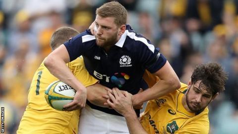 Finn Russell in action against Australia