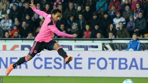 Ikechi Anya strikes to put Scotland ahead