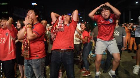 South Korea fans in the nation's capital Seoul watch the game against Germany