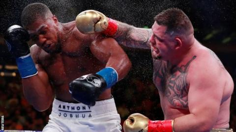 Andy Ruiz Jr during his fight against Anthony Joshua in June