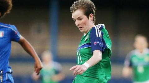 Kirsty McGuinness in action for Northern Ireland