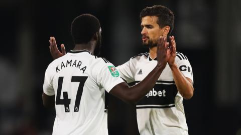 Fulham celebrate scoring