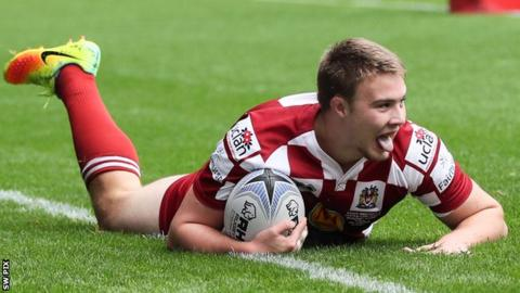Jack Wells made his Super League debut for Wigan Warriors at the age of 18