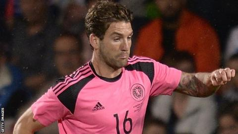 Charlie Mulgrew in action for Scotland against France