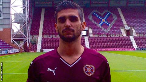 Brazilian defender Igor Rossi Branco at Tynecastle